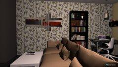 Raumgestaltung Küchenwohnbüro in der Kategorie Wohnzimmer