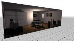 Raumgestaltung L-form in der Kategorie Wohnzimmer