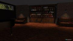 Raumgestaltung Lese- und Klavierraum in der Kategorie Wohnzimmer