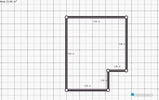 Raumgestaltung Living Area + Kitchen in der Kategorie Wohnzimmer