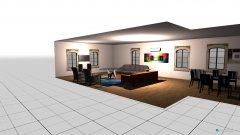 Raumgestaltung living dining combo in der Kategorie Wohnzimmer