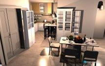 Raumgestaltung Living Room and Kitchen without bar in der Kategorie Wohnzimmer