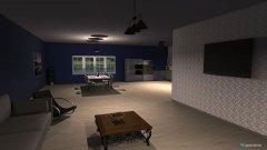 Raumgestaltung Living room, dining room, kitchen in der Kategorie Wohnzimmer