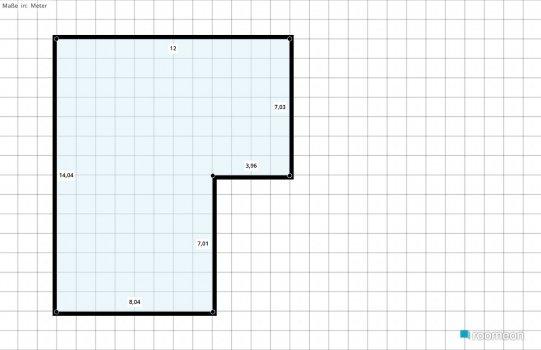 Raumgestaltung Lofty Eingangs- Gäste- Wohnbereich in der Kategorie Wohnzimmer