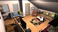 Raumgestaltung Mansarda in der Kategorie Wohnzimmer