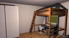Raumgestaltung mein raum mit hochbett in der Kategorie Wohnzimmer