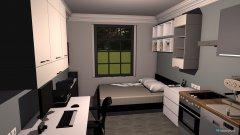 Raumgestaltung Micro Appartment in der Kategorie Wohnzimmer