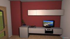 Raumgestaltung mit Bett in der Kategorie Wohnzimmer