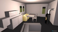 Raumgestaltung mit höherer Fernsehunterschrank in der Kategorie Wohnzimmer
