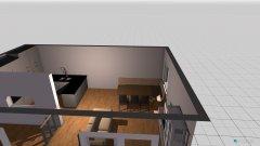 Raumgestaltung Mit küche in der Kategorie Wohnzimmer