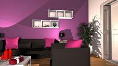 Raumgestaltung Modernes Wohnzimmer in der Kategorie Wohnzimmer