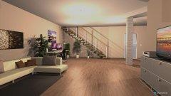 Raumgestaltung Multitasking Zimmer in der Kategorie Wohnzimmer