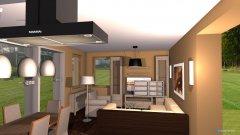 Raumgestaltung Nappali-konyha in der Kategorie Wohnzimmer