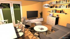 Raumgestaltung nappali külső falon a TV in der Kategorie Wohnzimmer