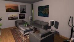 Raumgestaltung new sized living room in der Kategorie Wohnzimmer