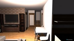 Raumgestaltung Obývačka, schody, kuchyňa-prízemie in der Kategorie Wohnzimmer