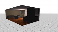 Raumgestaltung Offener Wohn-Ess-Kochbereich 1 in der Kategorie Wohnzimmer