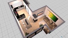 Raumgestaltung offenes Wohnzimmer in der Kategorie Wohnzimmer