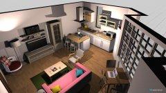 Raumgestaltung Penny's Livingroom in der Kategorie Wohnzimmer