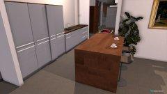 Raumgestaltung penthouse  eetkamer kant in der Kategorie Wohnzimmer