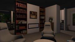 Raumgestaltung penthouse woonkamer kant in der Kategorie Wohnzimmer
