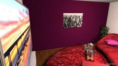 Raumgestaltung pink black in der Kategorie Wohnzimmer