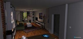 Raumgestaltung Projekt - Livingroom with open Kitchen in der Kategorie Wohnzimmer