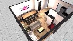 Raumgestaltung Q23 Küche+Wohnzimmer in der Kategorie Wohnzimmer