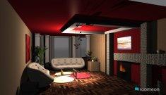 Raumgestaltung Red walls in der Kategorie Wohnzimmer