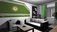 Raumgestaltung Renovierung 2015 - Wohnstube - dritter Entwurf in der Kategorie Wohnzimmer