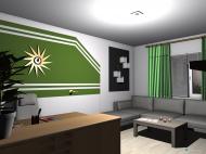 Raumgestaltung Renovierung 2015 - Wohnstube - zweiter Entwurf in der Kategorie Wohnzimmer