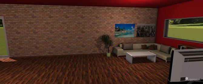 Raumgestaltung riesiges zimmer in der Kategorie Wohnzimmer