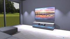 Raumgestaltung sala bianca minimal in der Kategorie Wohnzimmer