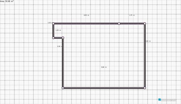 Raumgestaltung Sala - comedor - Terraza in der Kategorie Wohnzimmer