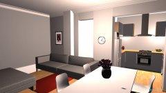 Raumgestaltung sala invertida in der Kategorie Wohnzimmer
