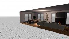 Raumgestaltung sala jantar e estar in der Kategorie Wohnzimmer