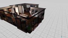 Raumgestaltung salon jadalnia kuchnia sciany in der Kategorie Wohnzimmer