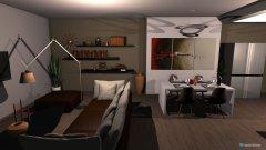Raumgestaltung salon  kuchnia jadalnia in der Kategorie Wohnzimmer