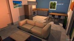Raumgestaltung SCH_Wohnzimmer_Küche in der Kategorie Wohnzimmer