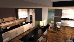 Raumgestaltung Schweizer Appartement in der Kategorie Wohnzimmer