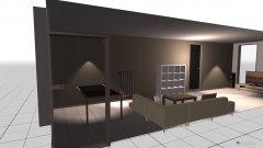 Raumgestaltung sicht vom balkon in der Kategorie Wohnzimmer