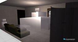 Raumgestaltung single living studio in der Kategorie Wohnzimmer