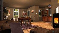 Raumgestaltung Strohballenhaus - Erdgeschoss in der Kategorie Wohnzimmer