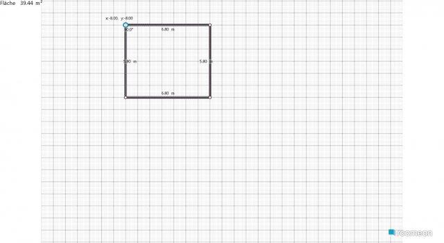 Raumgestaltung Studentenwohnung in der Kategorie Wohnzimmer