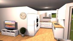 Raumgestaltung Sudenstraße - Wohnküche 4 in der Kategorie Wohnzimmer