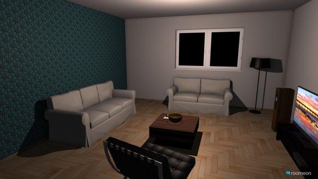 Raumgestaltung Surcin dnevna soba in der Kategorie Wohnzimmer