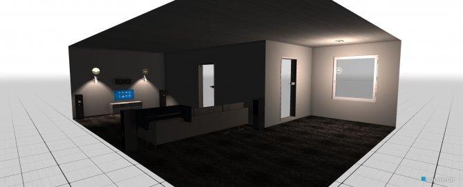 Raumgestaltung Testwohnraum in der Kategorie Wohnzimmer
