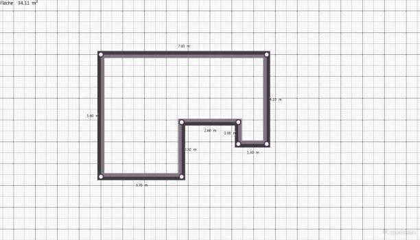 Raumgestaltung Triglawst. Wohnzimmer in der Kategorie Wohnzimmer