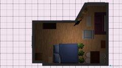 Raumgestaltung Umbau 1 - Großes Zimmer in der Kategorie Wohnzimmer