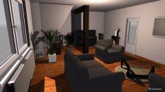 Raumgestaltung Variante 4 in der Kategorie Wohnzimmer